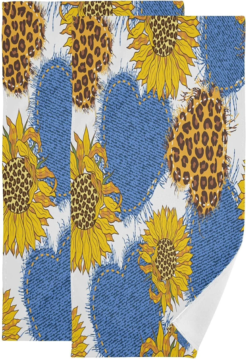ALAZA Sunflower Max 84% OFF Bouquets Hand Towels Soft Decorative Absorbent Fresno Mall B