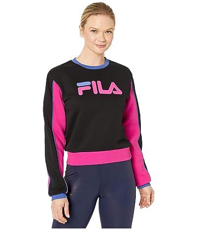 Fila Nuria Color Block Sweatshirt (Black/Magenta) Women