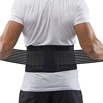 The Winner 2020* Premium Back Support Belt for Men & Women Patented Dual Adjustable Straps for SciaticaBackHerniated DiscScoliosis Pain Relief