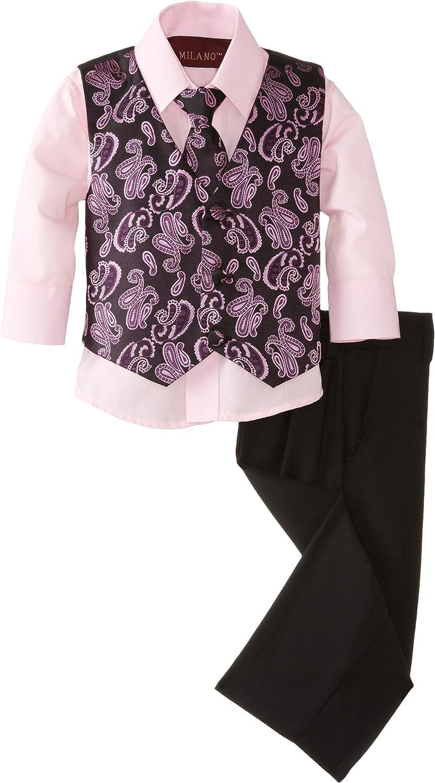 Milano Couture Baby Boys' Paisley Fun Vest Set