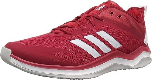adidas Men& 039;s Speed Trainer 4 Baseball schuhe, Power rot Crystal Weiß Scarlet, 7 M US