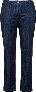 Ulla Popken 724461 - Pantalones vaqueros para mujer (5 bolsillos, pierna recta)