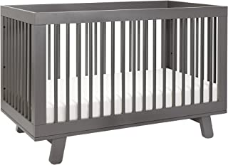 Babyletto Hudson 3-in-1 Convertible Crib with Toddler Bed Conversion Kit, Slate