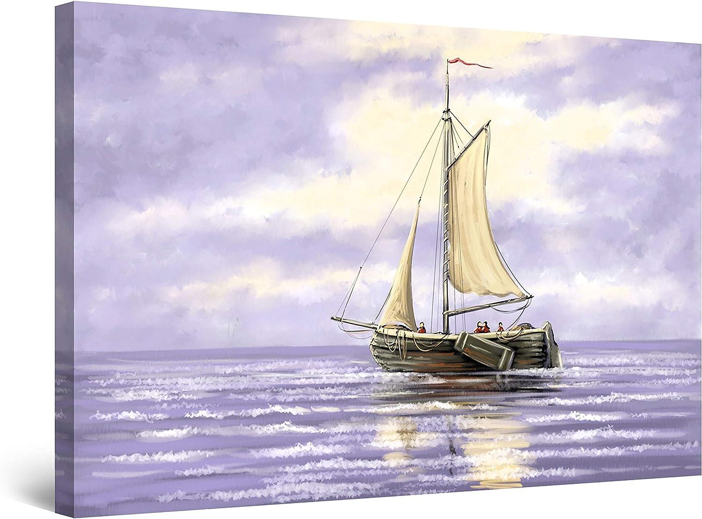 Startonight Canvas Wall ランキングTOP5 Art Abstract - The Pirates 買い物 Purple on Sea