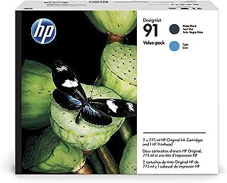 HP P2V35A HP 91 Printhead/91 Matte Black/Cyan Original Ink Cartridge Value Pack