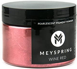 MEYSPRING Wine Red Epoxy Resin Color Pigment - 50 Grams - Great for Art Resin, Ecopoxy, UV Resin