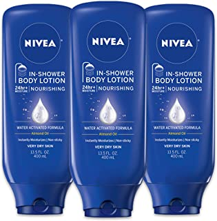 NIVEA Nourishing In-Shower Body Lotion - Non-Sticky For Dry to Very Dry Skin - 13.5 fl. oz. Bottle (Pack of 3)