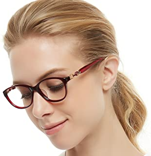 25bd8524f31 OCCI CHIARI Women Eyewear Frames Fashion Optical Acetate Eyeglasses with  Clear Lenses
