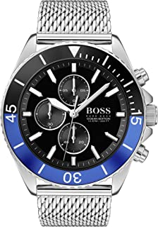 Hugo Boss Mens Quartz Watch, Chronograph Display and Stainless Steel Strap 1513742