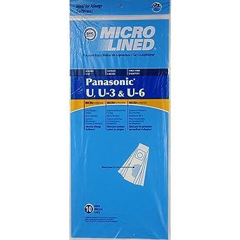 Panasonic Type U U3 U6 Vacuum Bags Micro Lined Allergen 409979 MC-115P MC-V145M