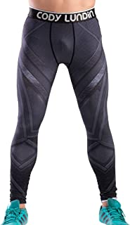 Men's Compression Elastic Tight Leggings Sport Panther Leopard Printing Pants