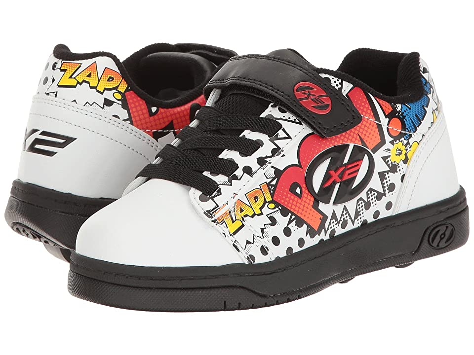 Heelys Dual Up X2 (Little Kid/Big Kid/Adult) (White/Black/Multi Comic) Boys Shoes