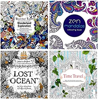 4 Pcs Secret Garden serie LOST OCEAN adult coloring colouring books For Relieve Stress Kill Time Painting Drawing Book wit...