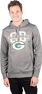 Ultra Game NFL Men's Fleece Hoodie Pullover Sweatshirt With Zipper Pockets