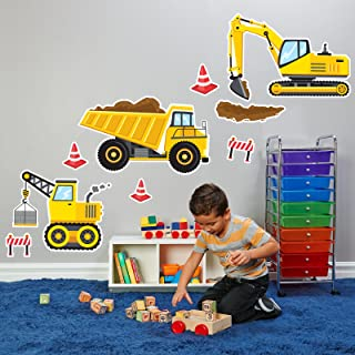 BirthdayExpress Construction Party Decorations - Giant Vinyl Wall Decal