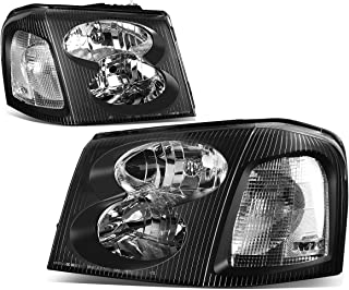 DNA Motoring HL-OH-024-BK-CL1 Headlight Assembly (Driver & Passenger Side)