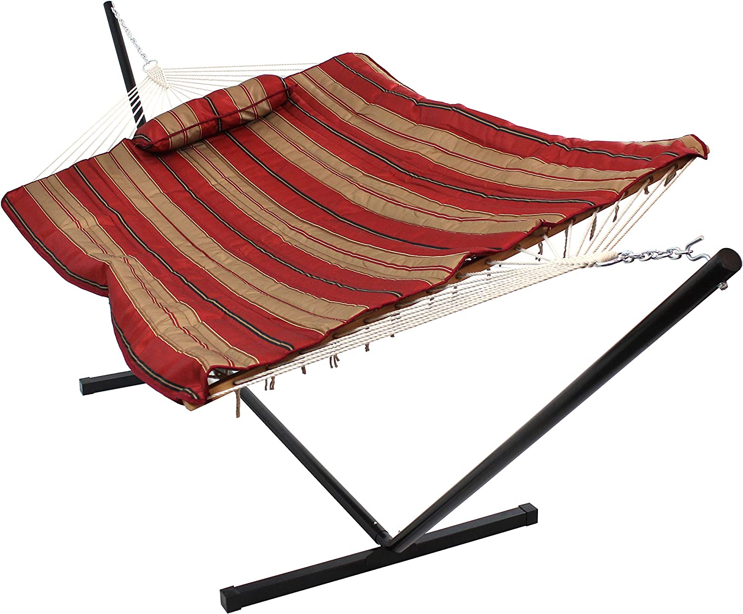 Sunnydaze Max 76% OFF Cotton Rope Freestanding Hammock with All items free shipping 12 Portable Foot
