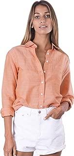 Women's Natural Cool Linen Button-Down Loose Shirt | Summer Winter Casual Chic
