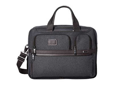 Tumi Alpha 3 Expandable Organizer Laptop Brief (Anthracite) Luggage