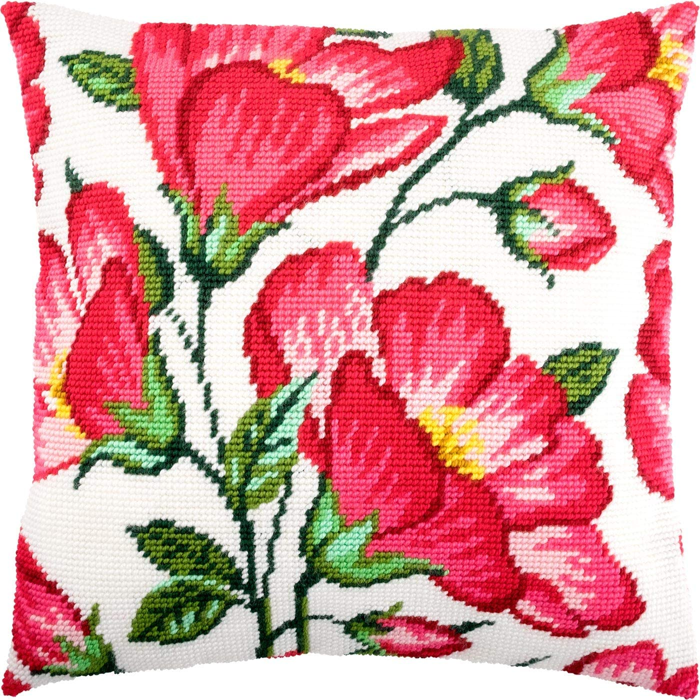 Mallow. Needlepoint Kit. Throw Pillow Popular standard New York Mall 16×16 Printed Inches. Tape