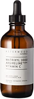 MATRIXYL 3000 + ARGIRELINE Peptide + Vitamin C 4 oz Serum with Organic Hyaluronic Acid, Reduce Sun Spots, Wrinkles, Our Most Powerful Triple Combination ASTERWOOD NATURALS Bottle