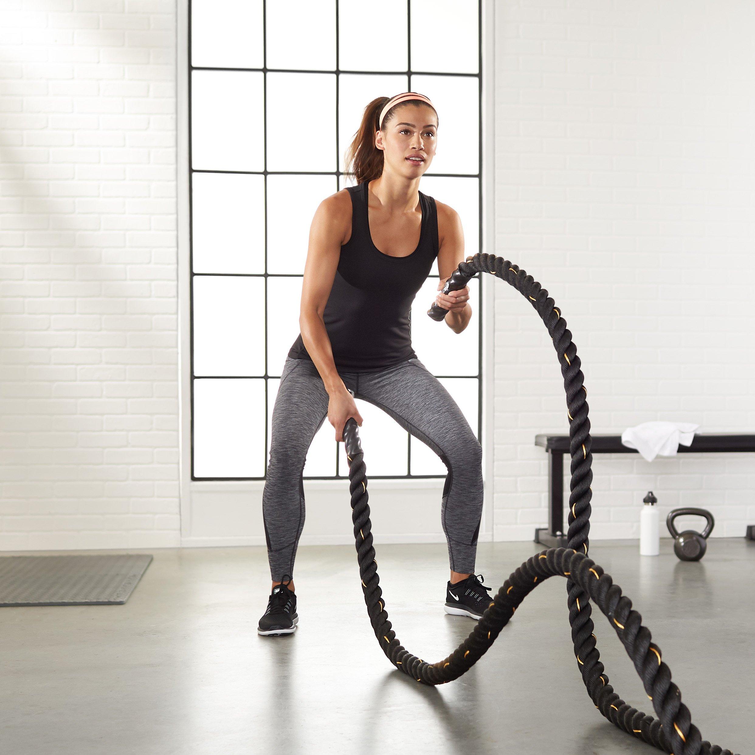 AmazonBasics 2 Inch Heavy Exercise Training Workout Battle Rope -  490*1.9*1.9 inch, Black: Buy Online at Best Price in UAE - Amazon.ae