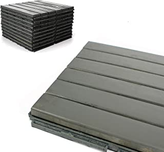 Deck Tiles - Patio Pavers - Acacia Wood Outdoor Flooring - Interlocking Patio Tiles - 12