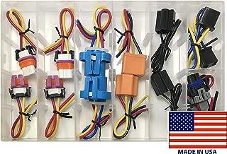 Sherco-Auto 14 Piece Headlamp Socket Harness Pigtail Assortment Kit - 7 Popular Sizes