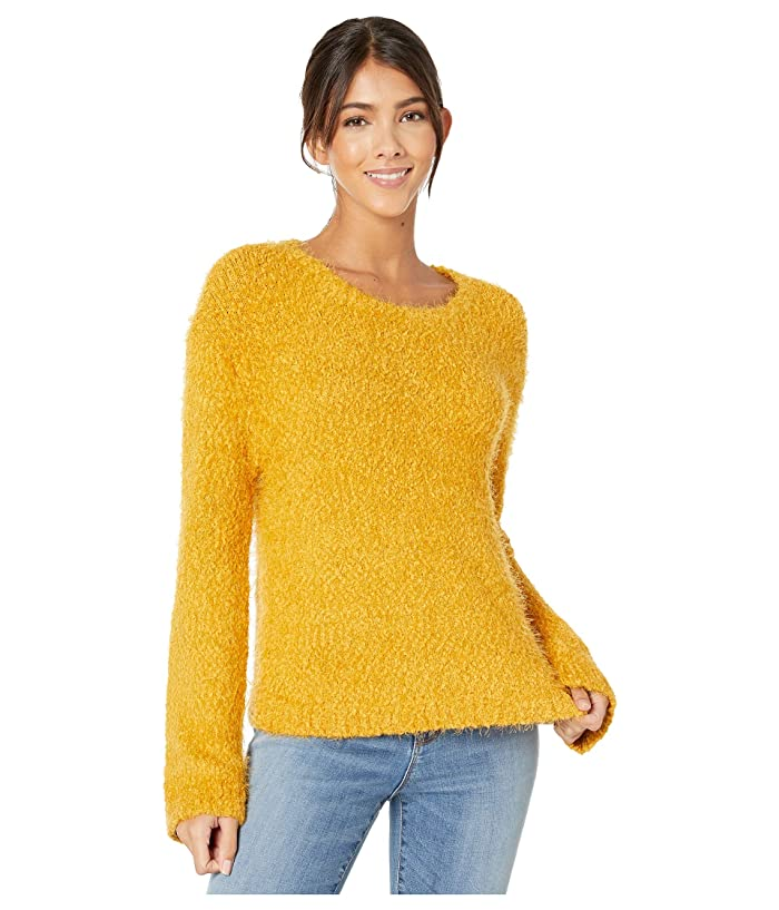BB Dakota  Get A Crew Sweater (Harvest Yellow) Womens Clothing