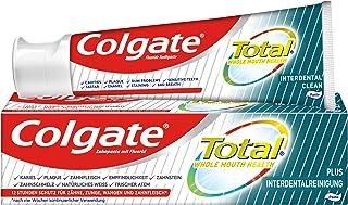 Colgate Pasta do zębów Total Plus środek do czyszczenia interdentalnego, 1 x 75 ml - krem do zębów przeciwko próchnicy, pł...