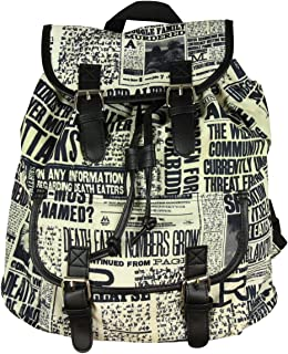 Harry Potter Daily Profit Newspaper Print Slouch Backpack