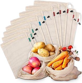 comprar comparacion Bolsas de Malla Reutilizables Kupton, Bolsas de Algodón Orgánico para Frutas y Vegetales para Almacenar Comida, Ir de Comp...
