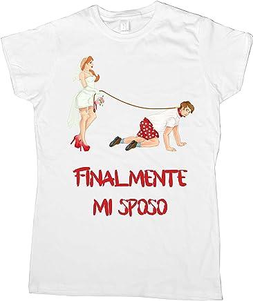 5229d979a43824 Centro Stampa Brianza T-Shirt Addio al Celibato - Finalmente Mi Sposo  Fumetto - Celibato