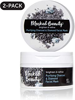 Masked Beauty Purifying Charcoal & Diamond Rinse-Off Facial Mask, 2 Count