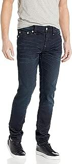 True Religion Men's Rocco Skinny Leg fit Jean with Silver Lurex Stitching, Blue