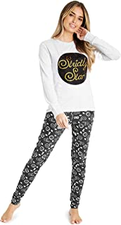 Pijamas Mujer con Lentejuelas, Ropa Mujer Algodon, Pijama Mujer con Camiseta Manga Larga y Pantalones, Regalos para Mujer y Adolescentes