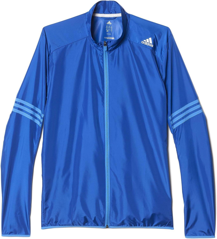 adidas Performance Mens Response Running Wind Jacket - Blue