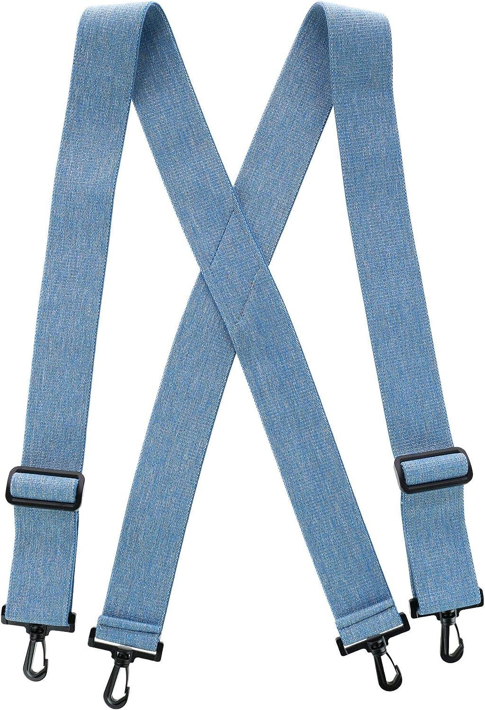 CTM Men's Big & Tall Elastic X-Back Suspenders with Plastic Hook Ends