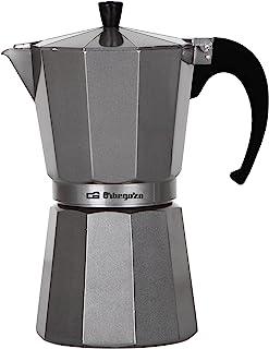 Orbegozo KFM 920 – Cafetera italiana de aluminio, 9 tazas de capacidad, acabado silver