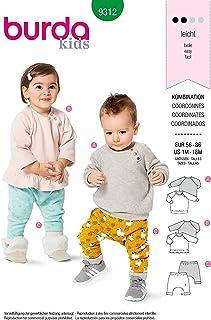 Burda Schnittmuster 9312, Shirt und Hose Baby 56-86 zum selber nähen, ideal für Anfänger L2