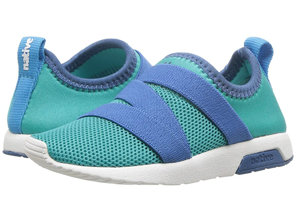 Native Kids Shoes Phoenix (Toddler/Little Kid) (Glacier Green/Storm Blue/Shell White) Kids Shoes