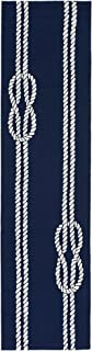 Liora Manne CAPR8163633 Capri Coastal Ropes Navy Indoor/Outdoor Runner Rug, 2' X 8', Blue and White