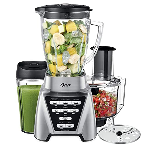 6e677b45171 Oster Pro 1200 Blender with Glass Jar plus Smoothie Cup   Food Processor  Attachment