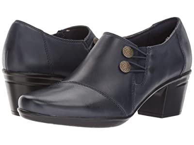 Clarks Emslie Warren (Navy Leather) Women