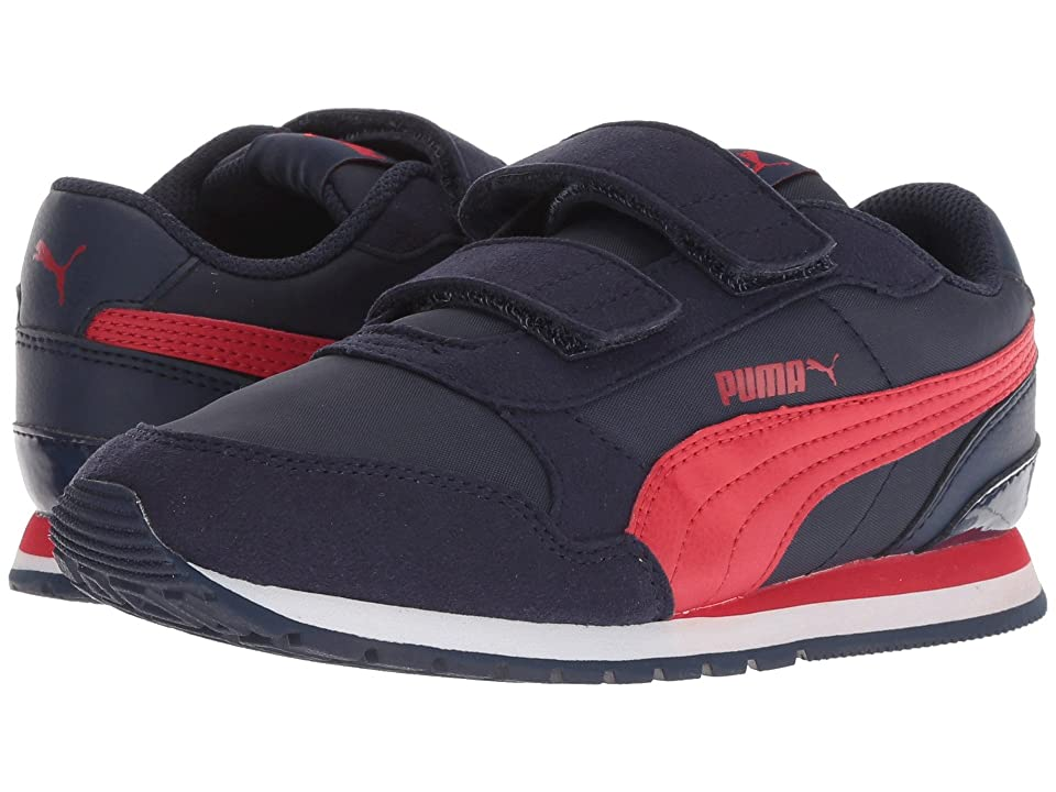Puma Kids ST Runner v2 NL V (Little Kid) (Peacoat/Ribbon Red) Boys Shoes