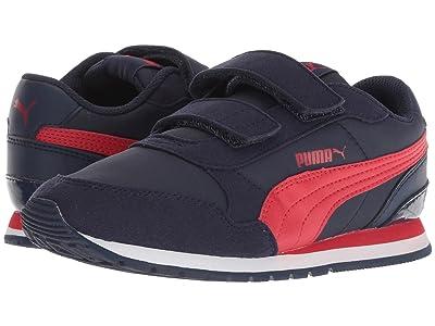 Puma Kids ST Runner v2 NL V (Little Kid) (Peacoat/Ribbon Red) Boys Shoes
