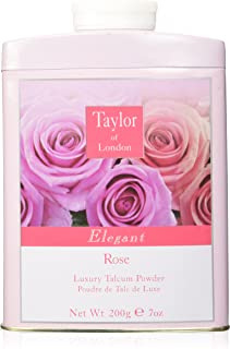 Taylor Of London Rose Luxury Talcum Powder for Women, 7 Ounce