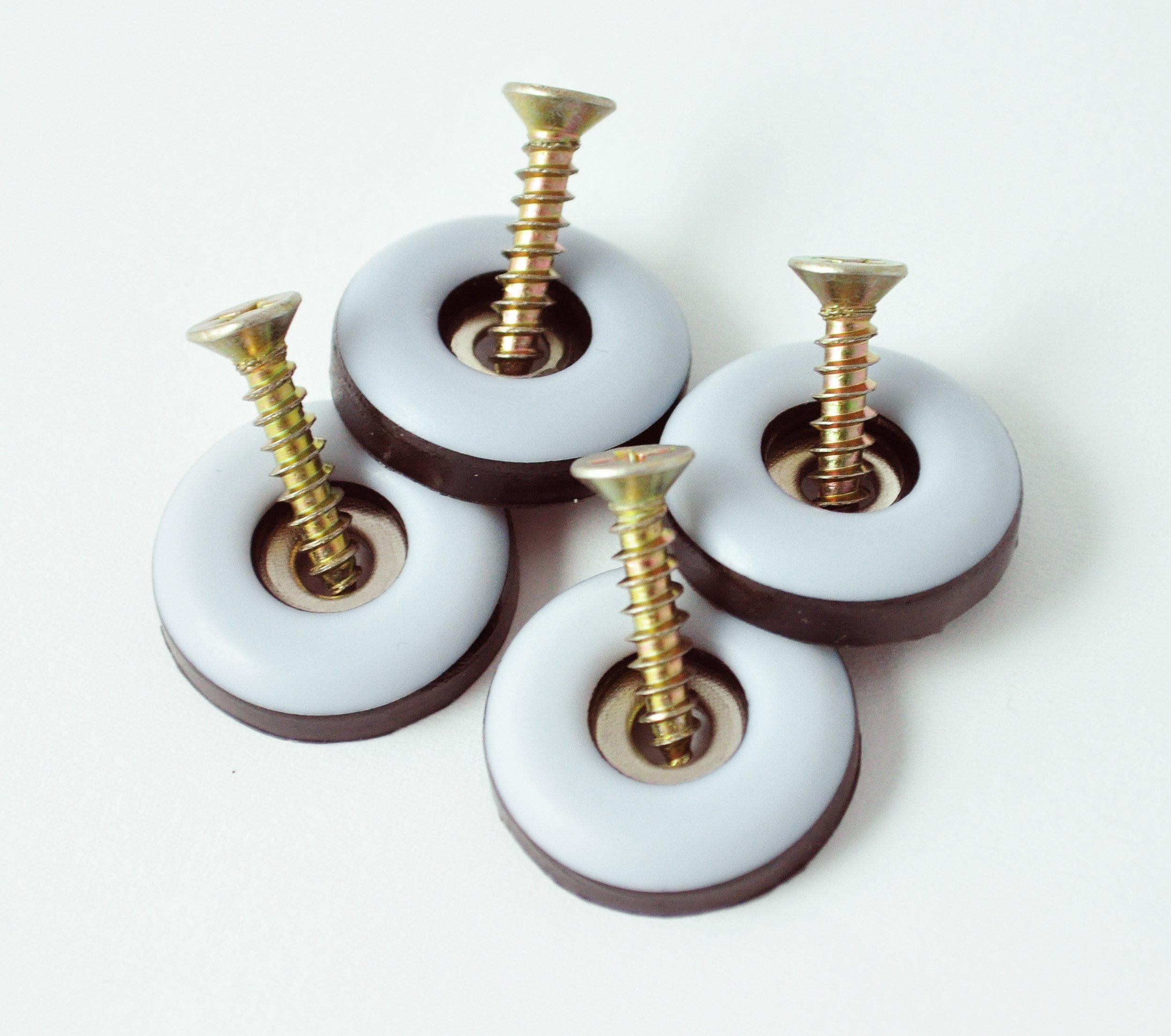 12 Teflongleiter mit Nagel Ø 30 mm Rund PTFE-Gleiter Untersetzer Möbelgleiter