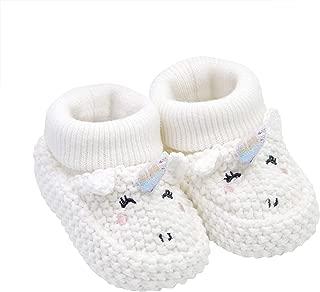 Soft Sole Baby Girl Unicorn Knit Bootie-Newborn Slipper