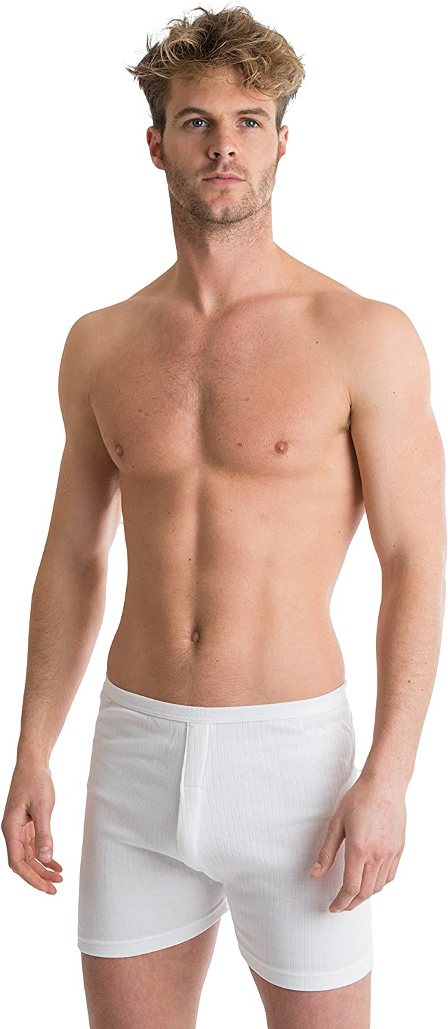 Octave 2 Pack Mens Soft 100% Combed Cotton Trunks - Classic Design Modern Cut